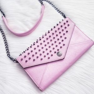 Rebecca Minkoff Pink Studded Envelope Crossbody